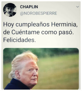 Meme política Trump Herminia de cuéntame