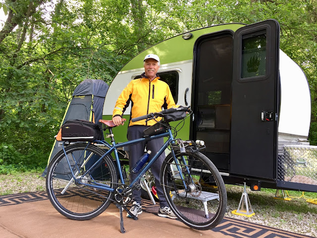The tiny trailer as a bicycle basecamp
