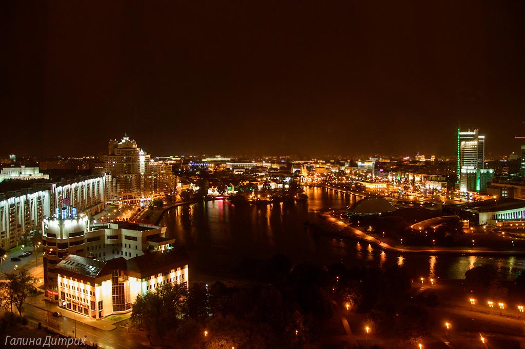 Ночные фото Минска Троицкое предместье
