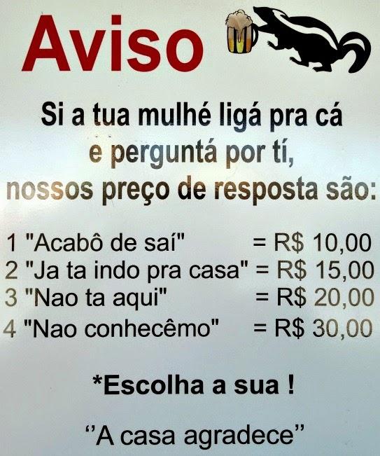 Um dos avisos do Gambarzeira, em Santo Antônio de Lisboa, Florianópolis