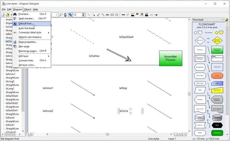 Diagram Designer : Δημιουργία διαγραμμάτων ροής