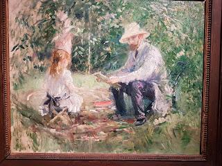 "Berthe Morisot : ""Eugène Manet et Julie"""
