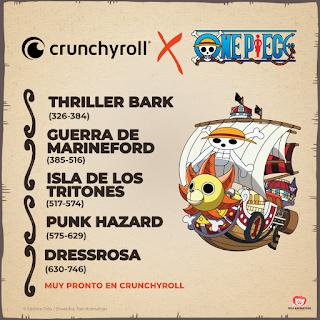 """Más """"One Piece"""" con subtítulos llegará a España en Crunchyroll el 16 de mayo"""