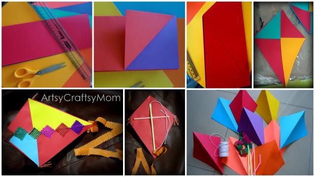 Sankranti kite craft artsy craftsy mom for Decoration kite