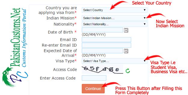 Online-indian-visa-form