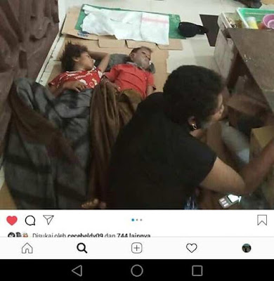 Unggahan di Facebook dan Instagram yang sempat viral terkait kondisi pasangan suami-isteri Herman Stapilus Pattisiany dan Yati Letsoin bersama kedua anaknya yang terpaksa tidur beralaskan karung di lapangan Merdeka Ambon-Provinsi Maluku