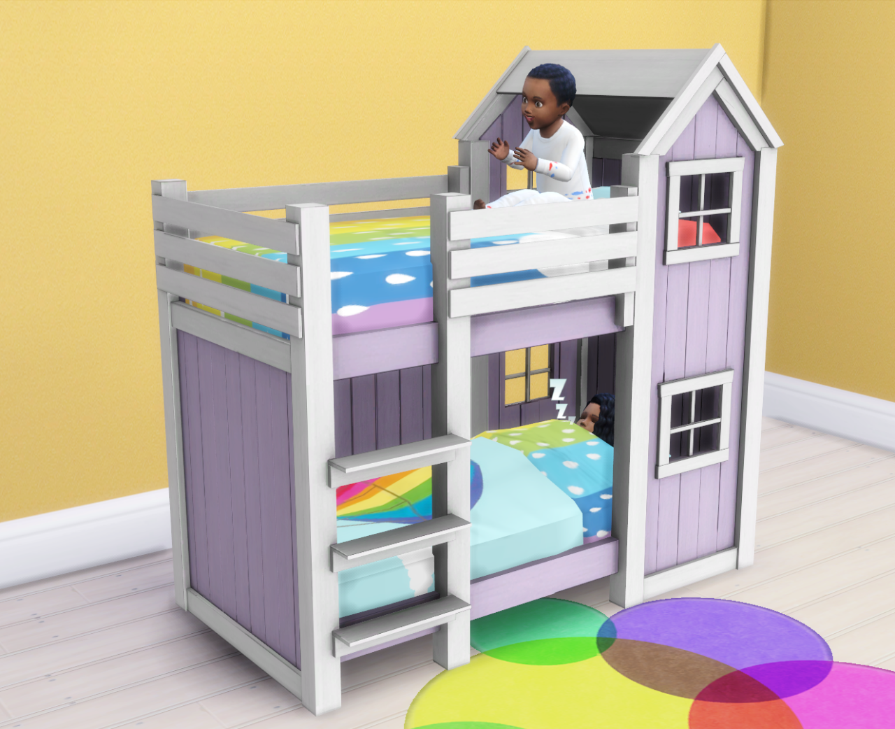 My Sims 4 Blog: Separated Toddler Mattresses in 2 Heights ...