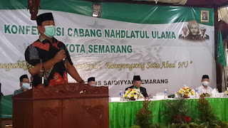 Sebut NU Semarang Tertib Organisasi, Wali Kota Ajak Munculkan Gelombang Cinta