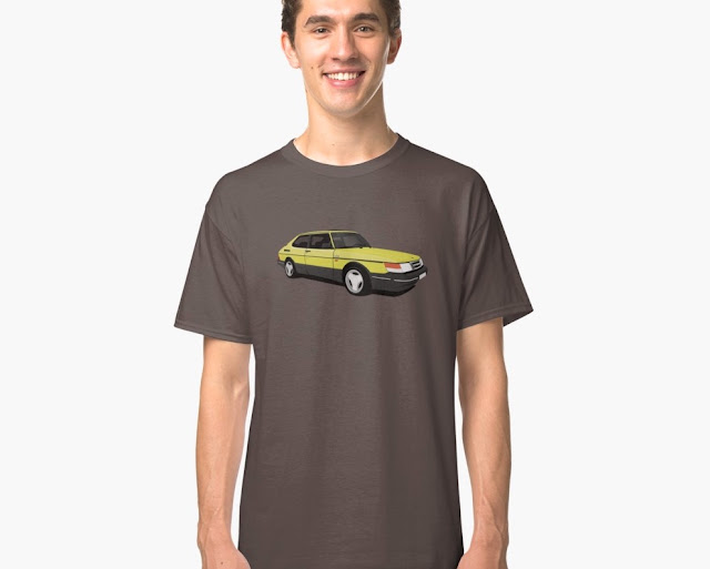 Saab 900 Turbo Aero t-shirt yellow