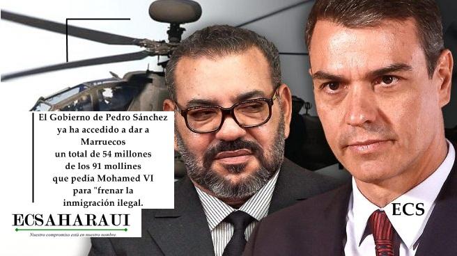 Mohamed VI gastó lo que Sánchez le ofreció para controlar las fronteras comprando tanques y helicópteros de combate.