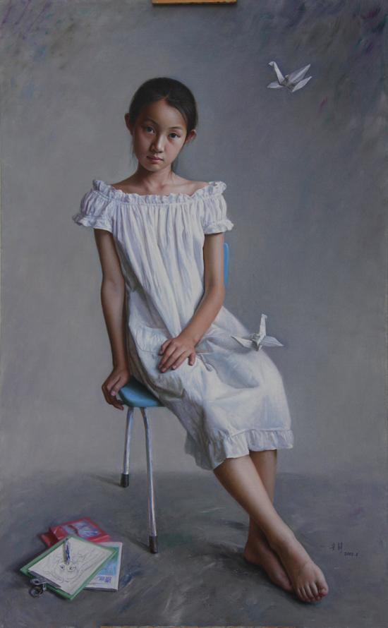 50+ Mesmerizing Hyper Realistic Women Paintings by 安静(An Jing)