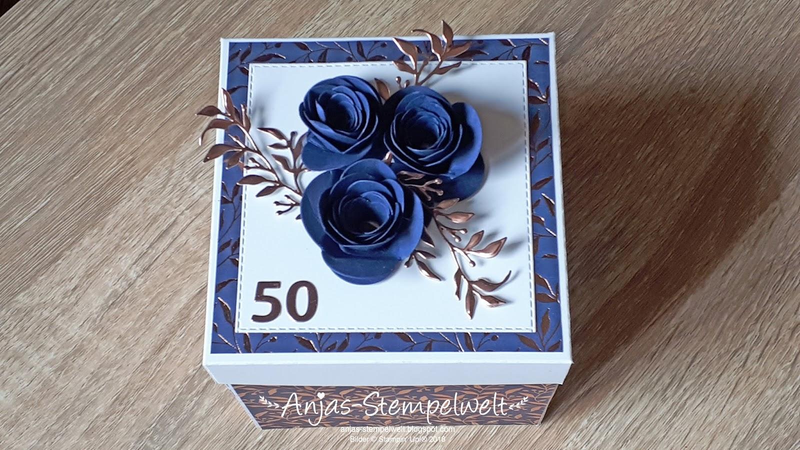 Explosionsbox Zur Goldenen Hochzeit Anjas Stempelwelt