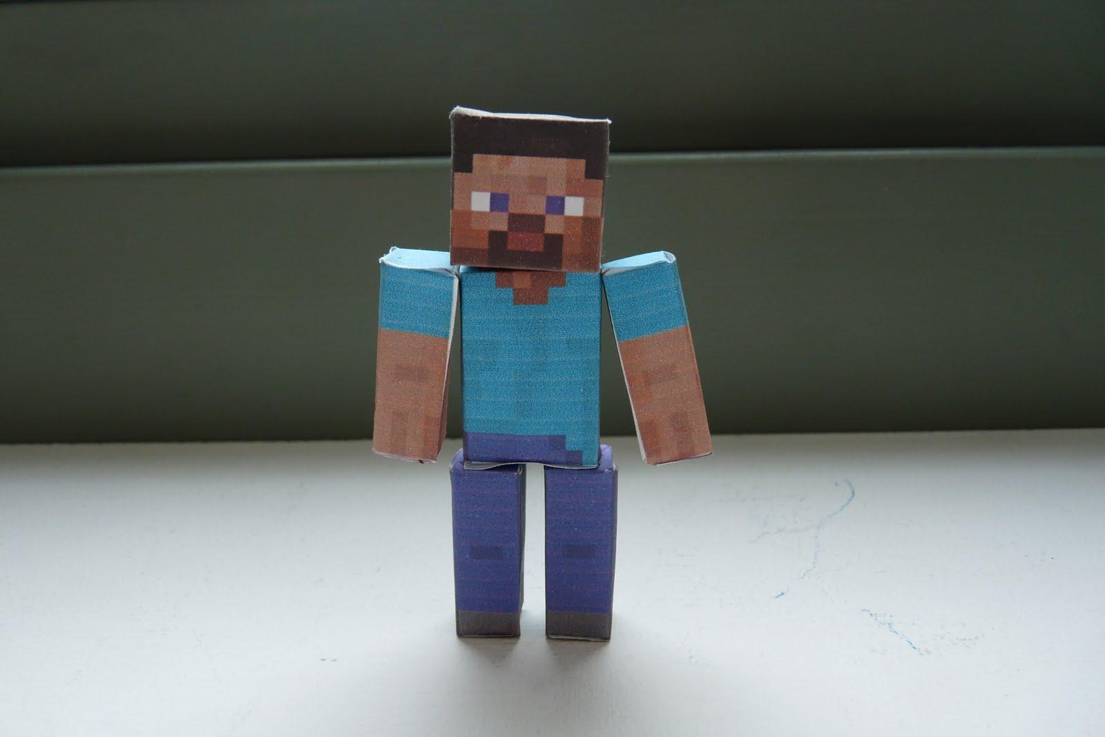 Shoopsoldier Stuff: Minecraft Papercraft Steve