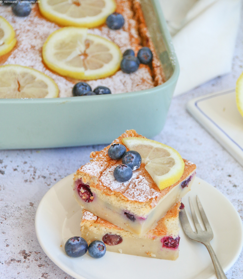 Blueberry Magic Cake