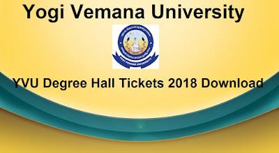 Manabadi YVU Degree Hall Tickets 2018 Download, Schools9 YVU UG Hall Tickets 2018