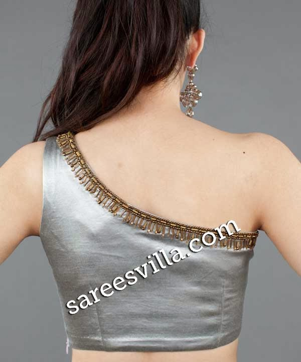 One Shoulder Saree Blouse Back Designs