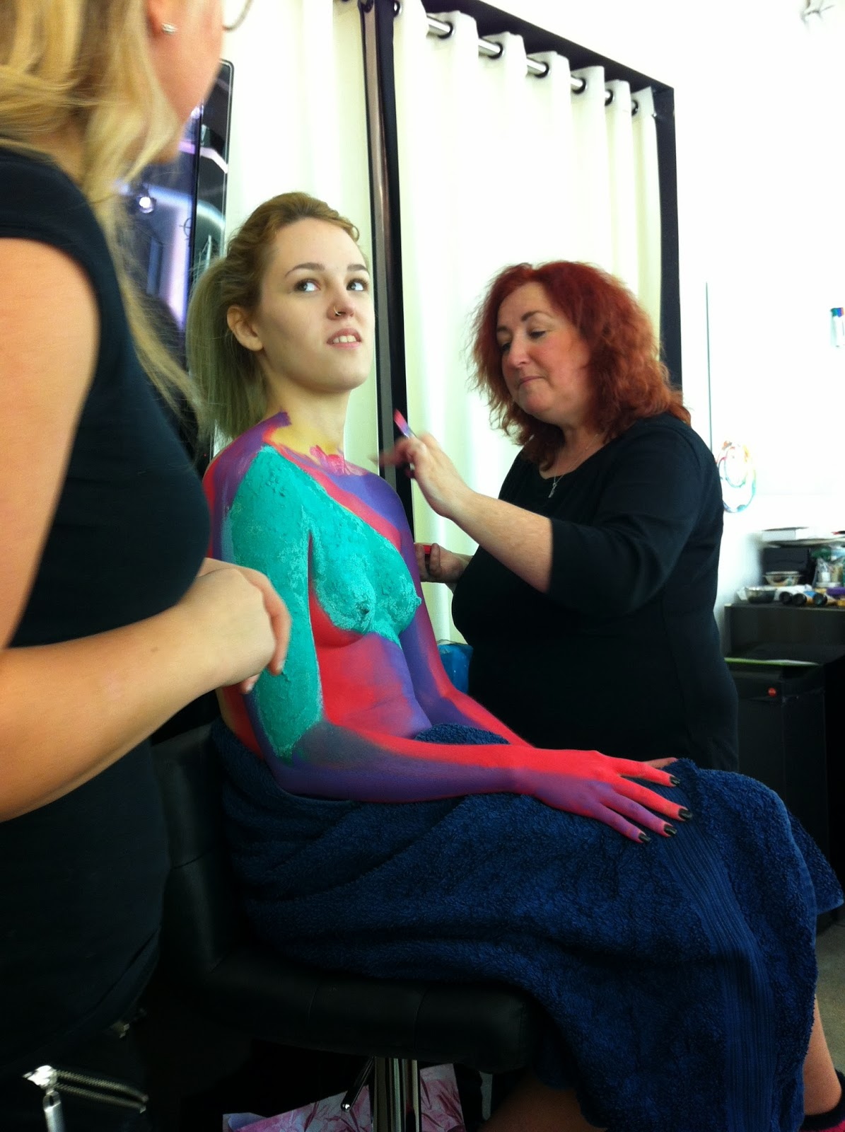 Julia Townened Body Painting Demo at Illamasqua