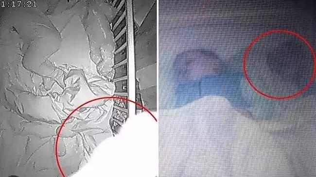 Πολλές μητέρες σε όλο τον κόσμο ισχυρίζονται ότι βλέπουν μη φυσιολογικές οντότητες δίπλα στα μωρά τους (vid)