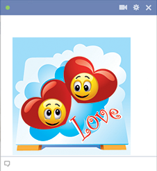 Heavenly love emoticons
