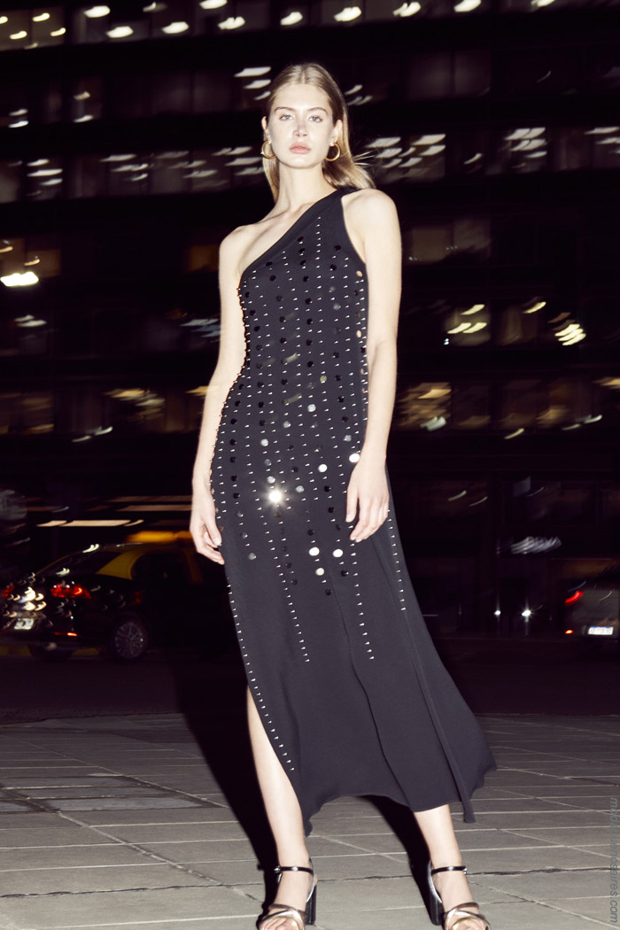 Moda mujer primavera verano 2020 noche vestidos de fiesta.