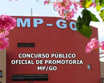 inscrições concurso público para oficial de promotoria MP-GO