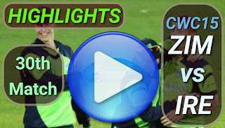 ZIM vs IRE 30th Match