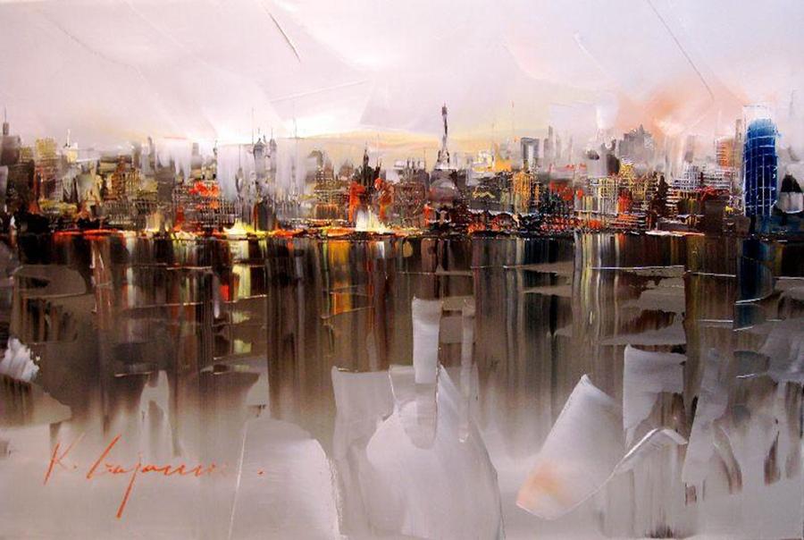 Kal Gajoum    Lebanese Knife painter   Tutt Art