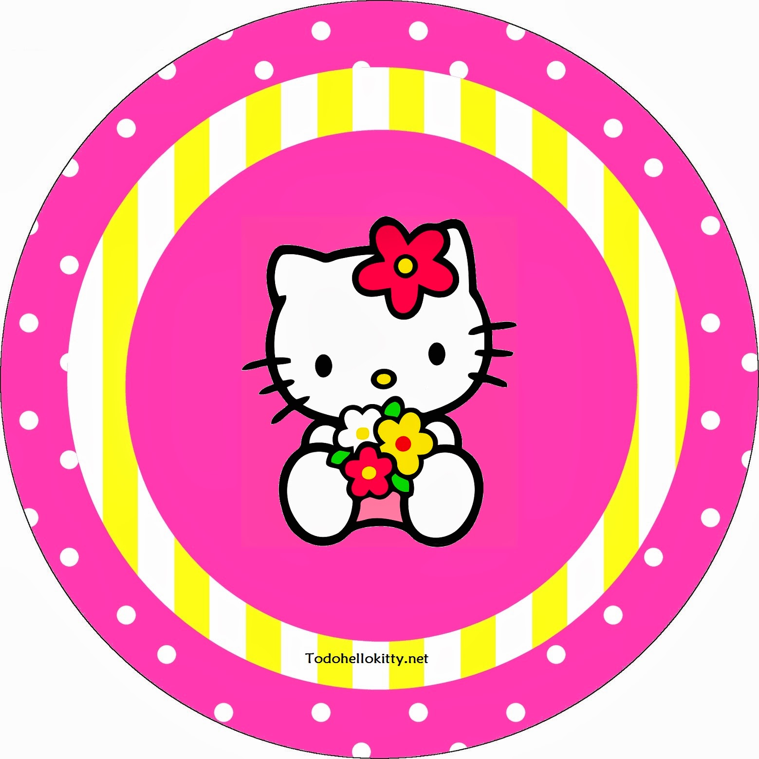 Hello Kitty Party Free Printable Cupcake Toppers Or Labels