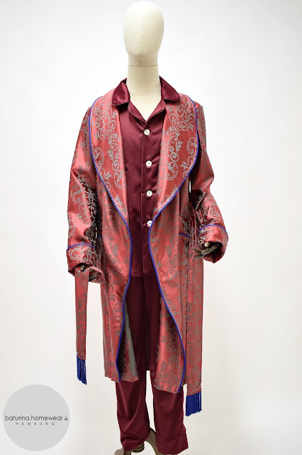 mens red paisley robe dressing gown cotton