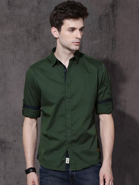 Yeşil gömlek erkek kombini