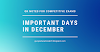 Important Days & Dates 2020 : List of Important National & International Days to Remember in December