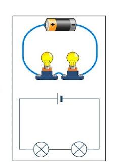 gambar rangkaian seri listrik