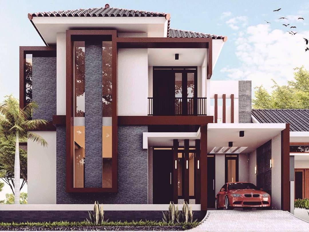 65 model desain rumah minimalis 2 lantai modern mewah