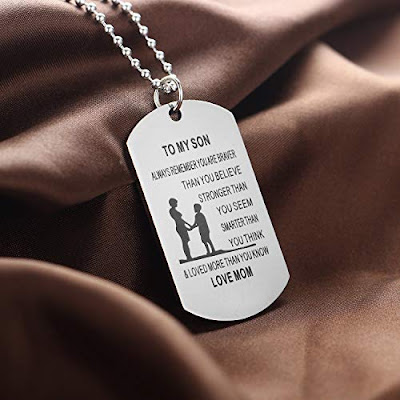 Dog Tag Gift Idea for Teen Boy Son