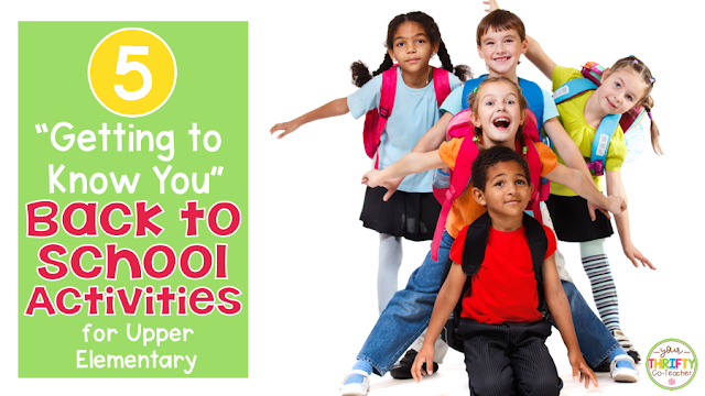 Back to school activities you can use in your elementary classroom on the first day of school to help you and your students get to know each other and foster relationships.