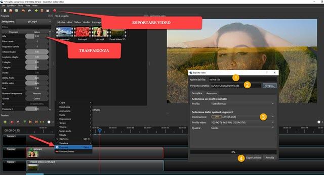 trasparenza nei video senza sfondo