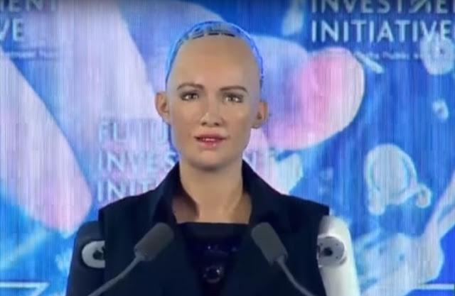 Robot Ikut Rapat PBB, dan Menjadi Pembicara