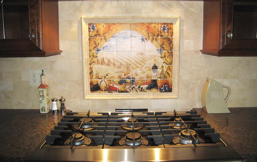 Wall Mural   Italian Tumbled Stone Murals, Kitchen Wall Decor