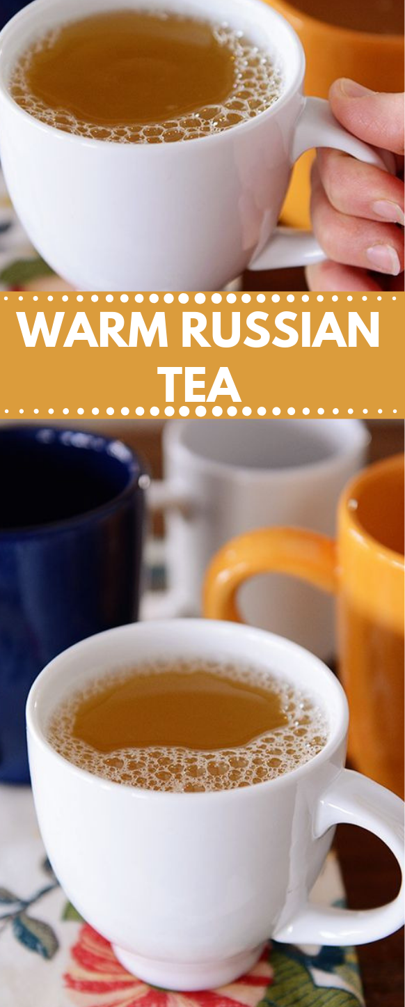 WARM RUSSIAN TEA #tea #drink #healthyrecipes #party #cocktail