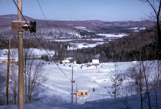 Ski hill at Laurentian Lodge, St. Agathe, Quebec, Canada | 1963