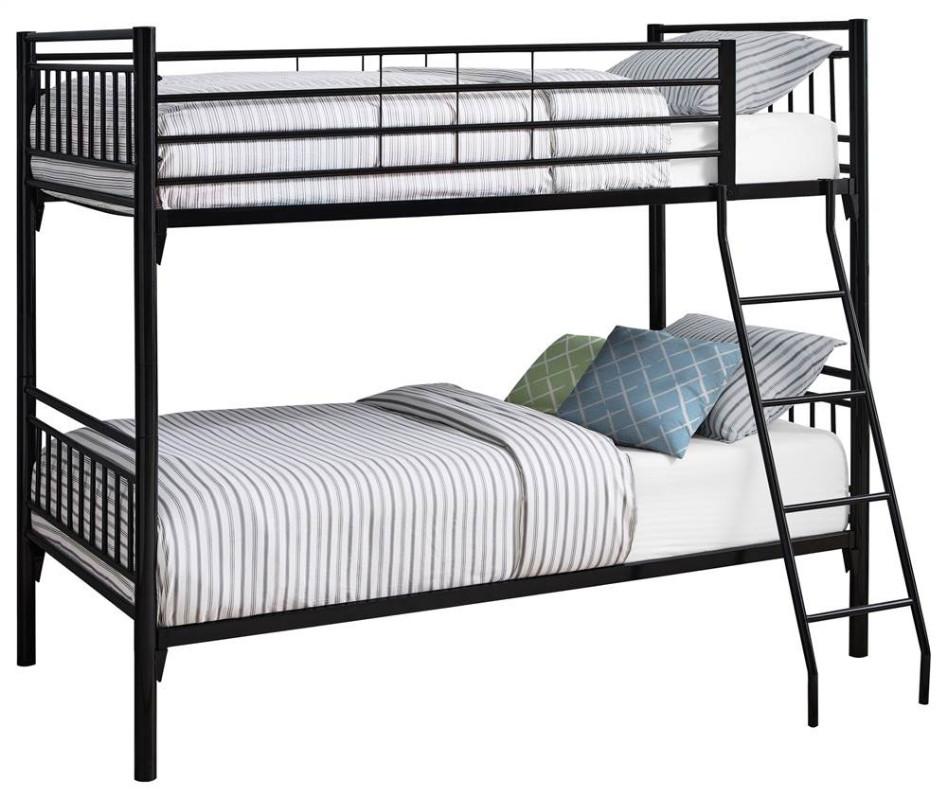 Twin Bunk Bed in Black Monarch Specialties