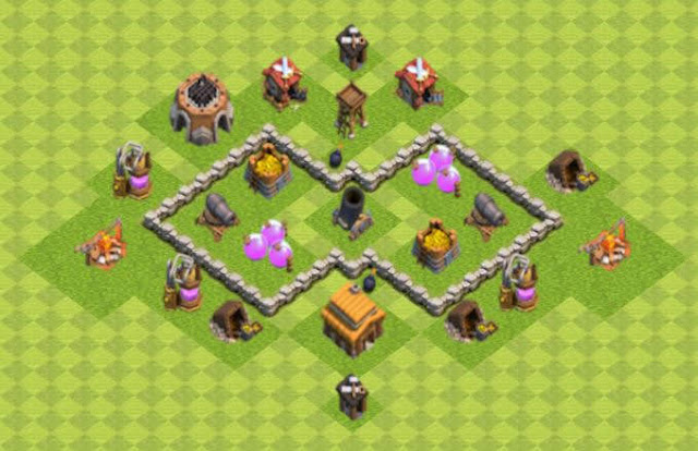 Base COC TH3 Farming 5
