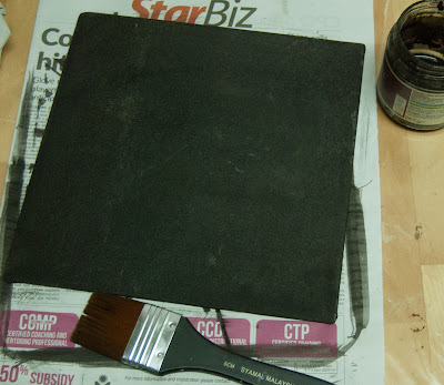 Black Stained Canvas board