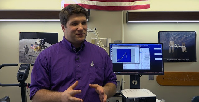 Carl Ade, assistant professor of exercise physiology, and collaborators have found that astronauts' exercise capacity decreases in long-duration spaceflight because the heart and small blood vessels are not as effective at transporting oxygen. Credit: Kansas State University