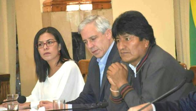 Rebeca Peralta Mariñelarena y Evo Morales