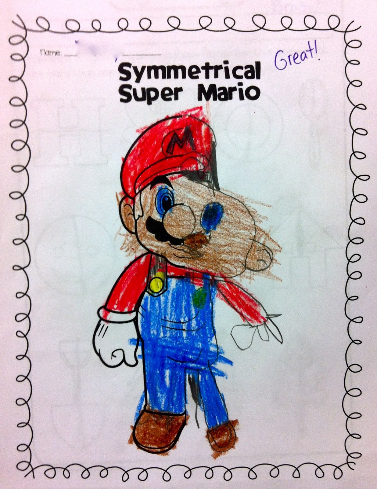 Oddesey Math Worksheet Mario