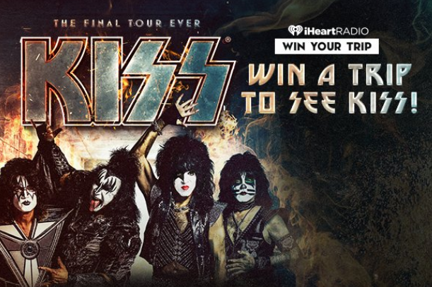 You could win a trip to see KISS live in concert, complete with airfare, hotel, transportation, tickets, merchandise and a MEET AND GREET!