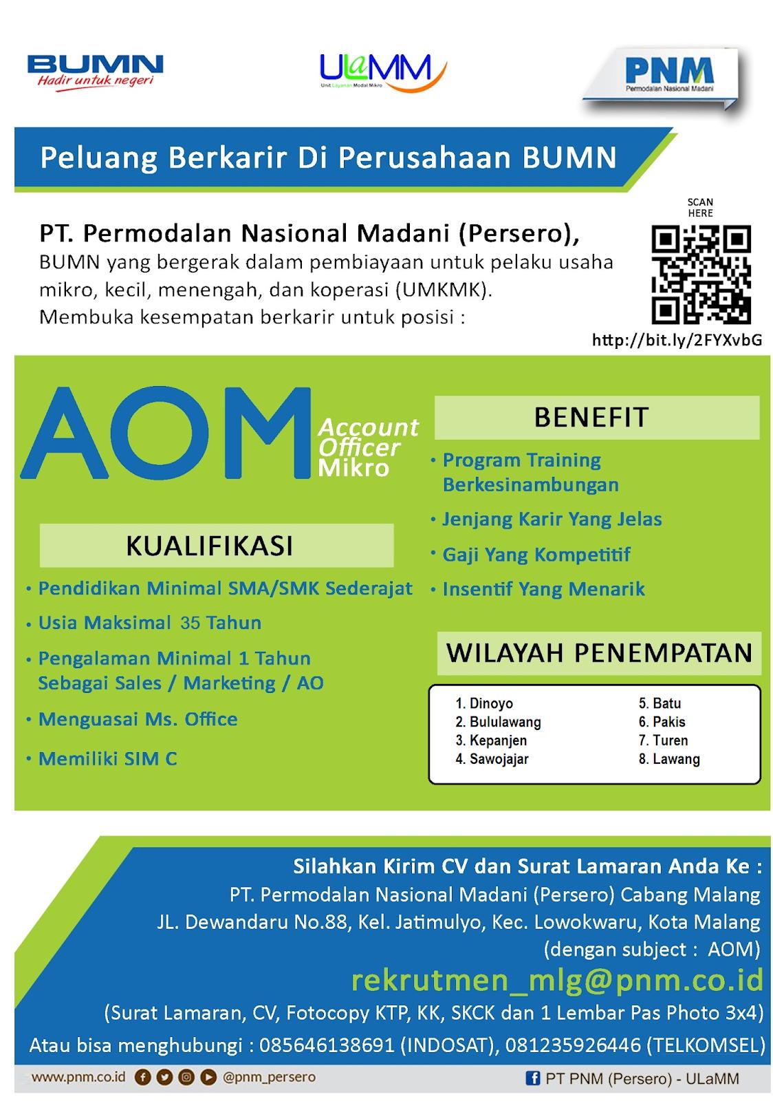 Lowongan Kerja BUMN PT Pemodalan Nasional Madani (Persero) Tingkat SMA Sederajat Agustus 2019
