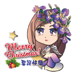 Flower angel girl: Merry Christmas