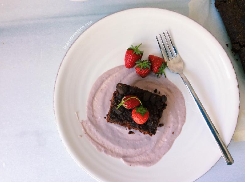 Brownie vegano alubias rojas o negras